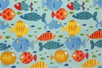 Swavelle Mill Creek SMALL FRY/FRANCO PACIFIC Tropical Indoor Outdoor Upholstery Fabric
