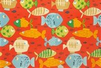 Swavelle Mill Creek SMALL FRY/FRANCO SANGRIA Tropical Indoor Outdoor Upholstery Fabric