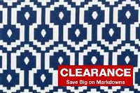 P Kaufmann JAMBOREE 454 LAKE Geometric Jacquard Fabric