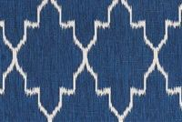 Lacefield Designs MONACO COBALT Lattice Print Upholstery And Drapery Fabric