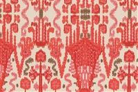 Lacefield Designs BOMBAY GERANIUM Ikat Print Upholstery And Drapery Fabric