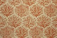 Bella-Dura CORALINE SAFFRON Tropical Indoor Outdoor Upholstery And Drapery Fabric