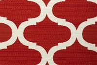 Bella-Dura INFINITY RED CORAL Lattice Indoor Outdoor Upholstery And Drapery Fabric