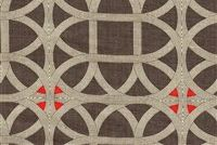 Williamsburg LAMERIE LATTICE PERSIMMON 750393 Lattice Linen Upholstery And Drapery Fabric
