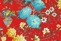 Williamsburg LIGHTFOOT GARDEN PERSIMMON 75036 Floral Linen Fabric