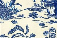 Williamsburg ASIAN ARCADIA SAPPHIRE 750371 Toile Linen Fabric