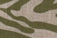 6879311 BYZANTINE ZEBRA OLIVE ON OATMEAL Linen Upholstery And Drapery Fabric