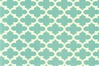 6884911 CLARKE COASTAL BLUE Lattice Print Upholstery And Drapery Fabric