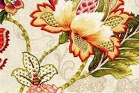 P Kaufmann ADELAIDE 001 TIGERLILY Floral Linen Blend Fabric