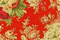 Waverly SANCTUARY ROSE CRIMSON 678002 Floral Print Fabric