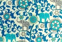 P/K Lifestyles PKL OD MENAGERIE SAPPHIRE 404271 Floral Indoor Outdoor Upholstery Fabric