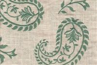 Fabricut Charlotte Moss GRENOBLE PEACOCK Floral Linen Blend Drapery Fabric