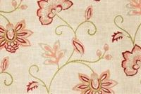Fabricut Charlotte Moss RIPOLI CORAL Floral Linen Blend Fabric