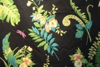 P Kaufmann GREEN HOUSE 001 EBONY Floral Print Fabric