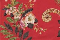 P Kaufmann GREEN HOUSE 003 CRIMSON Floral Print Fabric