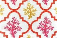 P Kaufmann ODL NANTUCKET 002 CORAL SUNSHINE Lattice Outdoor Occasional Use Upholstery And Drapery Fabric
