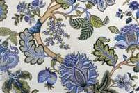 P Kaufmann TRIPLE CROWN/CIR 004 BLUEBELL Floral Linen Blend Fabric