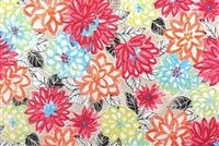 P/K Lifestyles PKL OD MATISSE DA WATERMELON 130 Floral Indoor Outdoor Upholstery Fabric