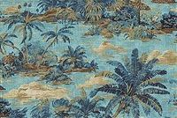 Tommy Bahama Home SCENIC BEAUTY RIPTIDE 801501 Tropical Linen Blend Upholstery And Drapery Fabric