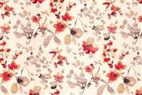 Trend 03367-VY POPPY Floral Linen Blend Fabric
