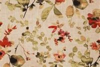 Trend 03367-VY SPICE Floral Linen Blend Upholstery And Drapery Fabric