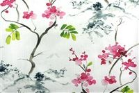 6941811 AKITA BLOSSOM Floral Print Upholstery And Drapery Fabric