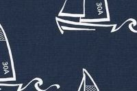 6948212 KENNY VINTAGE INDIGO Nautical Print Fabric