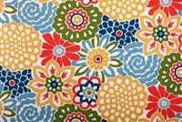Waverly SNS BUTTON BLOOMS FRUIT COCKTAIL Floral Indoor Outdoor Upholstery Fabric