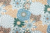 Waverly SNS BUTTON BLOOMS TIDE POOL 6795 Floral Indoor Outdoor Upholstery Fabric