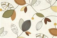 Magnolia Home Fashions CALDER PEBBLE Floral Print Fabric