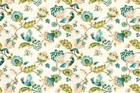 Trend 03713-T PEACOCK Floral Linen Blend Fabric
