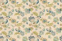 Trend 03713-T NAVY Floral Linen Blend Upholstery And Drapery Fabric