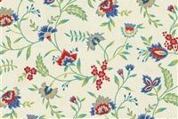 Waverly CAROLINA CREWEL BLUEBELL 679771 Floral Print Upholstery And Drapery Fabric
