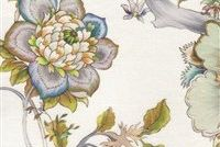 Braemore SABINE 002 PEWTER Floral Linen Fabric