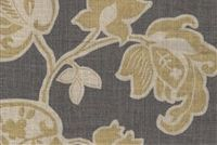 Magnolia Home Fashions ARABELLA BARLEY Floral Print Upholstery And Drapery Fabric