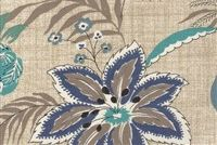Magnolia Home Fashions TRADEWINDS OCEAN Floral Print Fabric