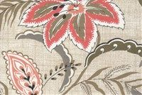 Magnolia Home Fashions TRADEWINDS FLAMINGO Floral Print Fabric