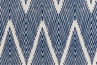 Lacefield Designs BALI NAVY CHALK Contemporary Print Upholstery And Drapery Fabric
