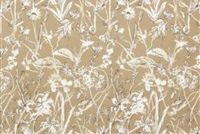 Lacefield Designs GARDEN PARTY SAND Floral Linen Blend Upholstery And Drapery Fabric