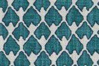 Lacefield Designs DIEGO PRUSSIAN BLUE Lattice Print Upholstery And Drapery Fabric