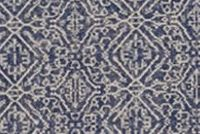 Lacefield Designs PRIYA INDIAN BLUE Diamond Print Upholstery And Drapery Fabric